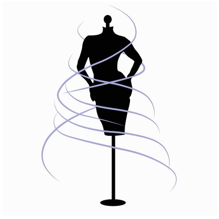 Vector stock illustration of a mannequin for clothing. Isolated on a white background