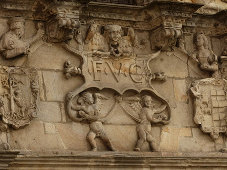 PORTICO DETAIL PALACE OF ESCORIAZA-EZQUIBEL, VITORIA, ESPA ??? ? ~ A, EUROPE Banque d'images - 102857387