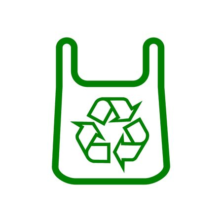 Eco bag. Products with a mark of recycling for different design Illustration