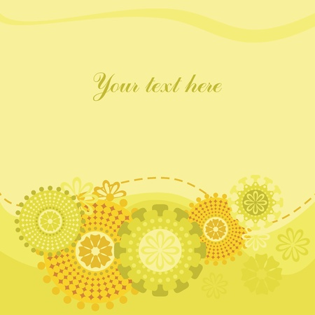 Beautiful background with patterns for placing on it of the text Stock Vector - 9177836