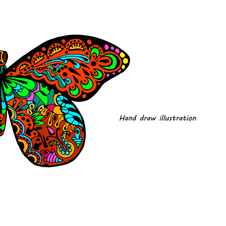 swill: Hand draw butterfly