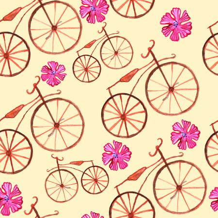 biking glove: drawn by hand watercolor pattern