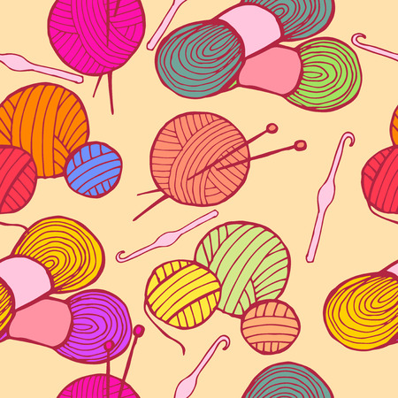 drawn by hand knitting Vector