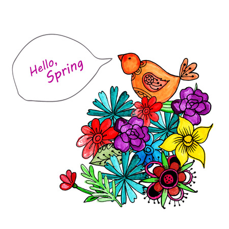 custody: spring custody watercolor background