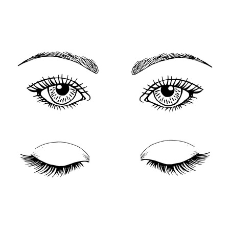 the template for the eyes makeup