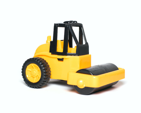 road roller: children toy car - road roller isolated on white background