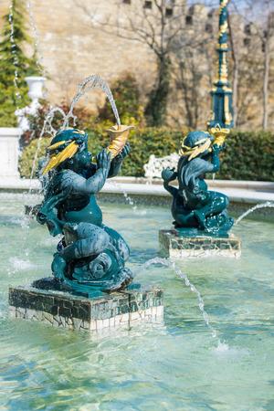 baku: part of the fountain to Azerbaijan, Baku city
