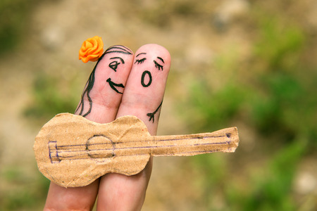 HESITATE: Funny men playing the guitar and singing. Relationship. Romance