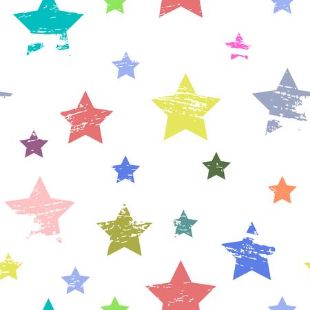 patrón de bebé sin problemas. La imagen de estrellas de colores.