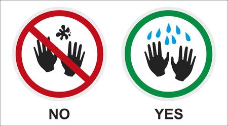 signer autocollant rappelant le lavage des mains, en prenant soin de l'hygiène