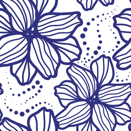 seamless vector background. the pattern of flowers