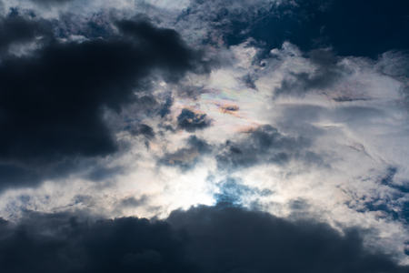 sky in beautiful clouds, bottom view