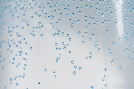 air bubbles inside the plastic water bottle