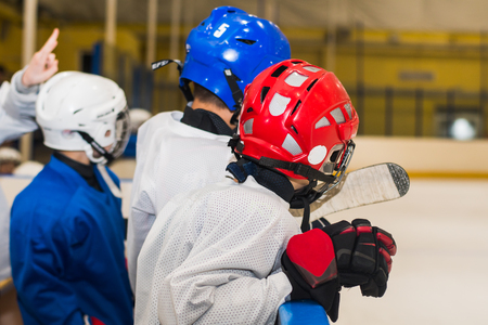 young players hockey players in training