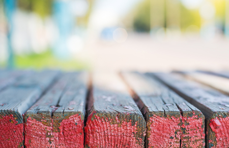 background with low depth of field. Bench.