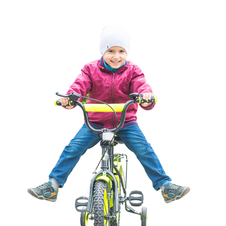 boy on a Bicycle on an isolated background