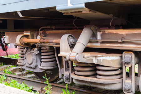 details of the railway rolling stock Stock Photo