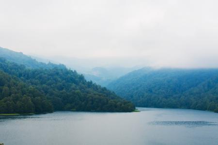 Goygol lake in the mountains in Azerbaijan Stock Photo