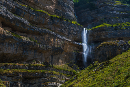 waterfall in the mountains. great Caucasus mountains of Azerbaijan