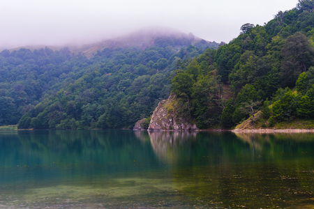 lake high in the mountains. Small Caucasus mountains