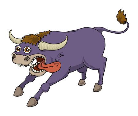 Crazy purple bull