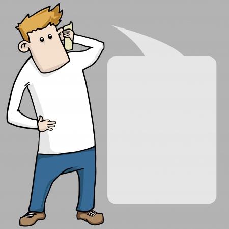 zapatos caricatura: muchacho de la historieta dando pulgar hacia arriba con bocadillo