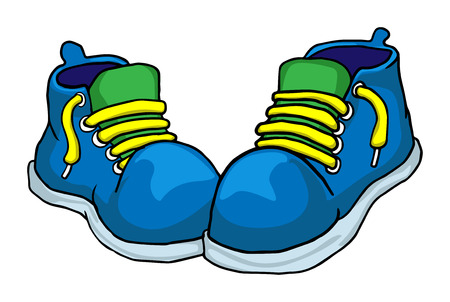 snickers: colorful shoes Illustration