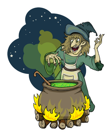 witchcraft: witch Illustration