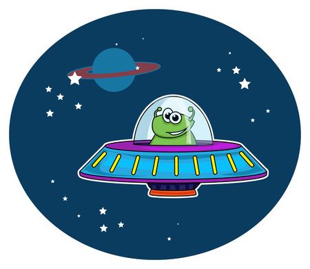 alien spaceship Vector