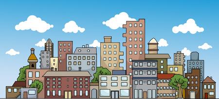 commercial real estate: Colorful city landscape