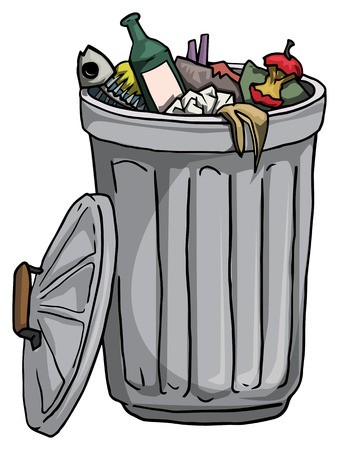 Trash can full of rubbish Stock Vector - 29508475