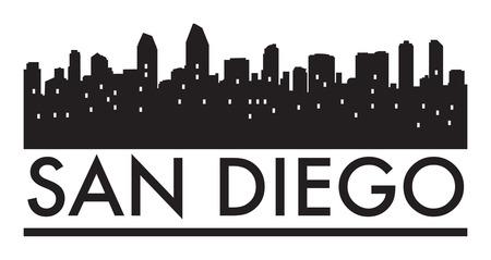 Abstract skyline San Diego, with various landmarks, vector illustration Ilustrace