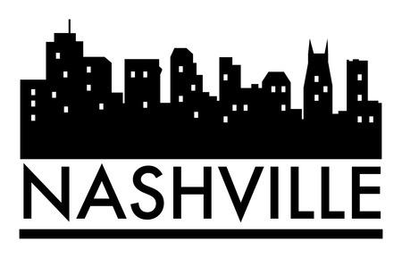 nashville: Abstract skyline Nashville, with various landmarks, vector illustration Illustration