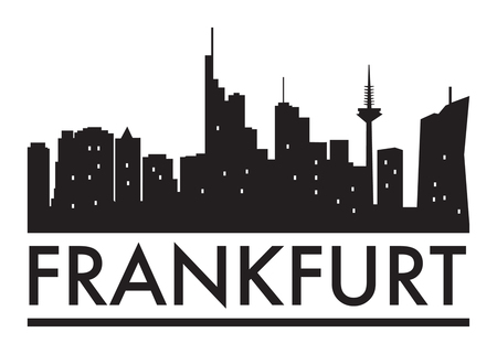 Abstract Frankfurt, skyline, with various landmarks, vector illustration Illustration