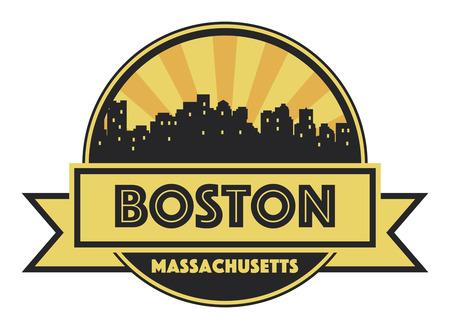 boston skyline: Abstract skyline Boston, with various landmarks, vector illustration