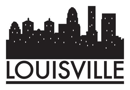 louisville: Abstract skyline Louisville, with various landmarks, vector illustration