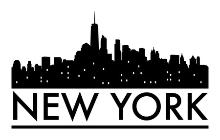 new york skyline: Abstract skyline New York, with various landmarks, vector illustration