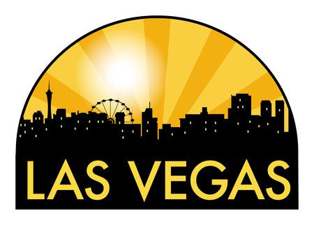 Abstract skyline Las Vegas with various landmarks, vector illustration 向量圖像