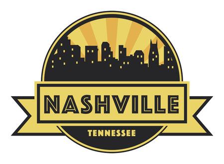 Abstract skyline Nashville, with various landmarks, vector illustration Ilustrace