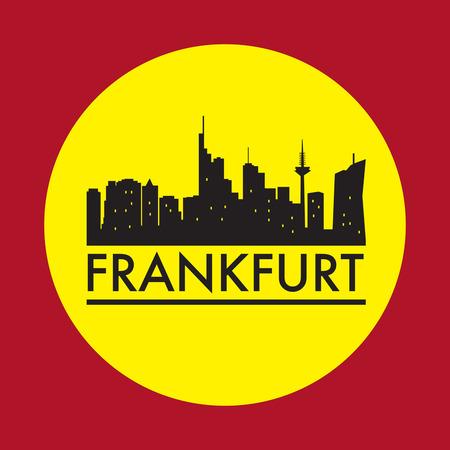 frankfurt: Abstract Frankfurt, skyline, with various landmarks, vector illustration Illustration
