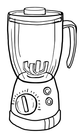 appliance: Juicer appliance, drawn, vector illustration
