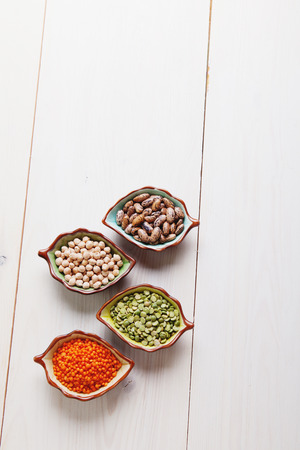 pulses: Healthy pulses products chick-pea, lentil, beans and peas