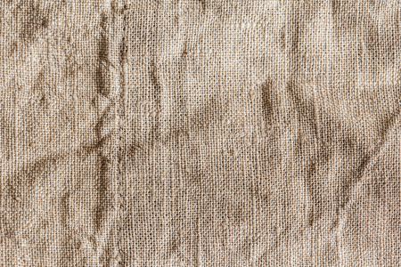 sack cloth: Eco friendly raw organic flax sack cloth fabric textile. Bag rope thread detailed textured burlap canvas