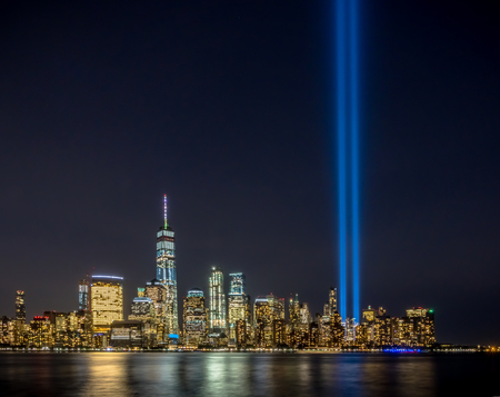 Tribute light New York 911