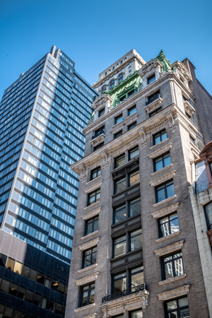 Old and new buildings in New York Stock Photo