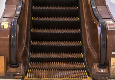 Wooden escalator in New York