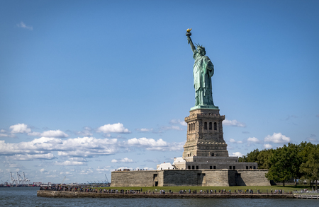 Statue of Liberty on Liberty Island in New York