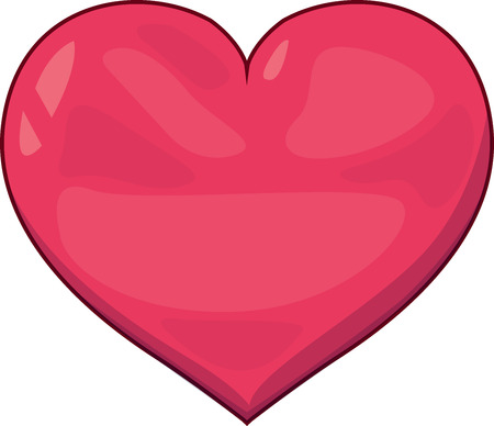 Vector illustration of a pink heart for Valentines day.