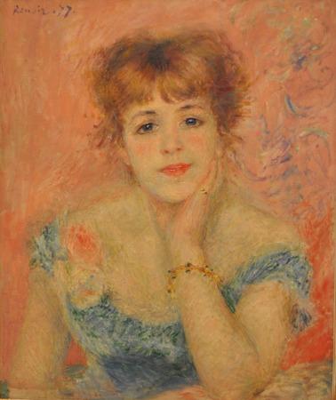 Auguste Renoir (1841 - 1919) - Portrait de Jeanne Samary 1877. Photo faite à Pouchkine Musée des Beaux-Arts (Moscou, Russie). Éditoriale