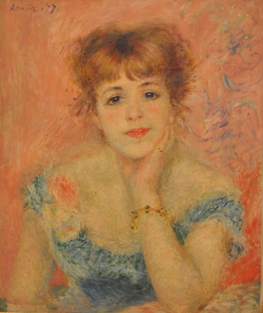 Auguste Renoir (1841 - 1919) - Portrait of Jeanne Samary 1877. Photo made in Pushkin Museum of Fine Arts (Moscow, Russia).